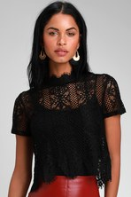 4b856f7ae87 Chic Cream Top - Lace Top - Crop Top - Scalloped Top - $45.00