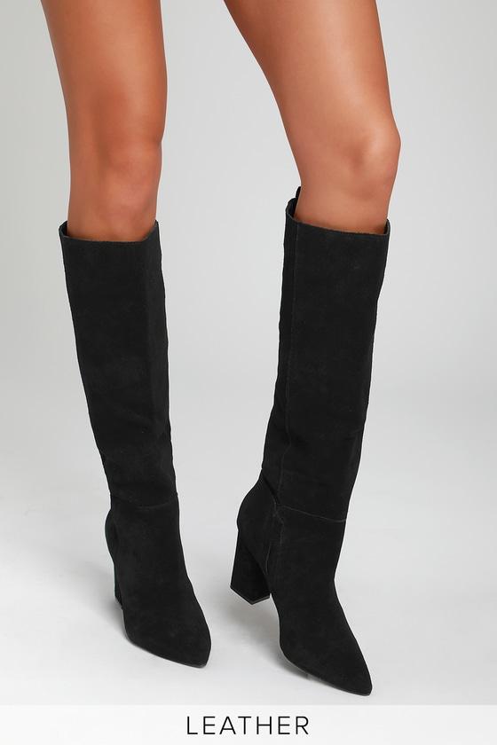 85c90528de4 Steve Madden Raddle - Suede Boots - Black Suede Boots