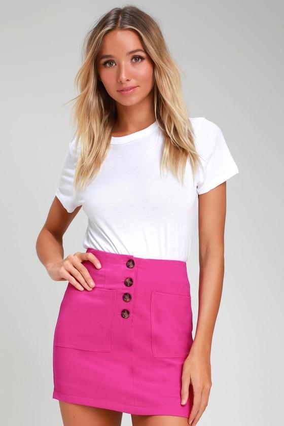 e62702afdeb0 Cute Fuchsia Skirt - Fuchsia Mini Skirt - Mini Skirt - Pink Skirt
