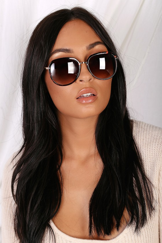 41f4ce666a0ea Cute Tortoise Sunglasses - Round Sunglasses - Brown Sunnies