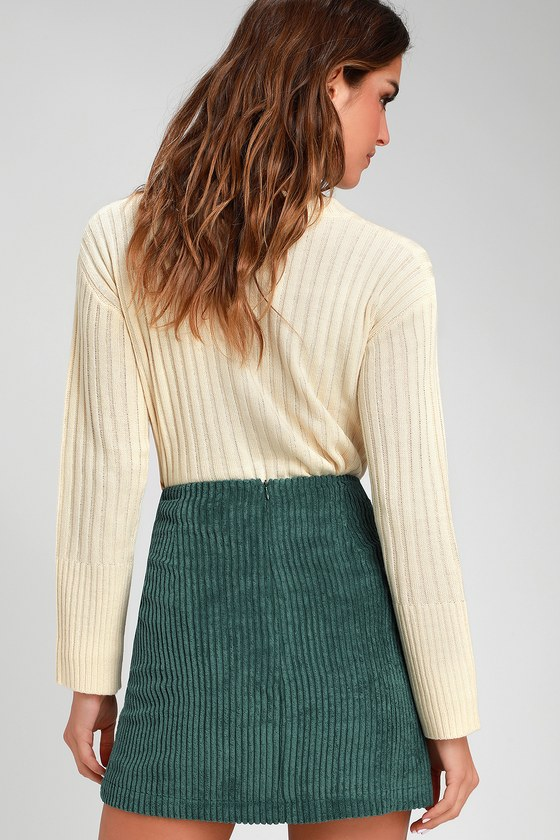 038ff6425f Cute Emerald Green Skirt - Mini Skirt - Corduroy Mini Skirt