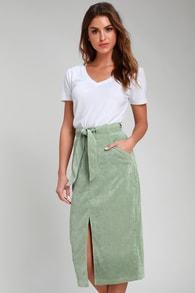 4ee9dae26a3 Blank NYC Chain of Command - Camo Print Mini Skirt - Denim Skirt