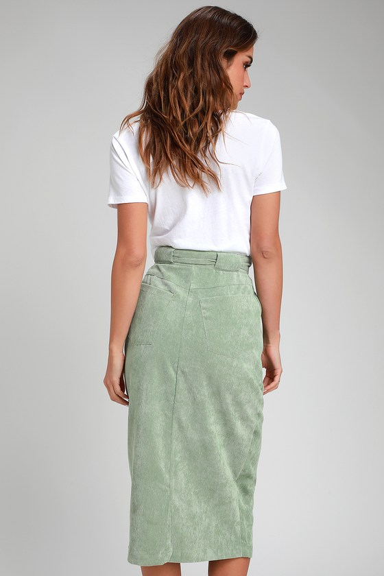 a7969a1198ab The Fifth Label Philosophy - Sage Green Corduroy Skirt - Midi