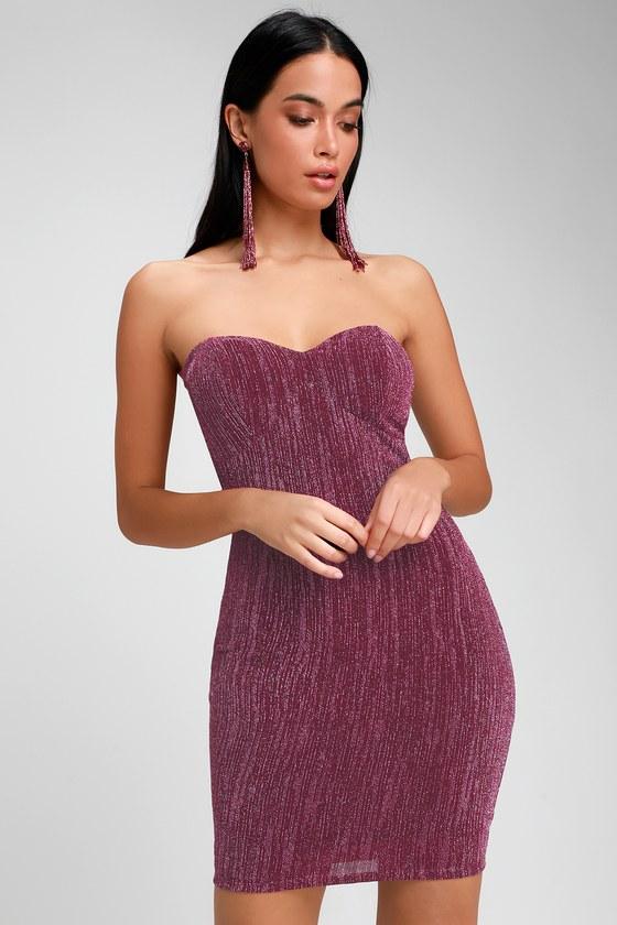 325fda2b5c1 Party Dress - Sparkly Dress - Strapless Dress - Bodycon Dress