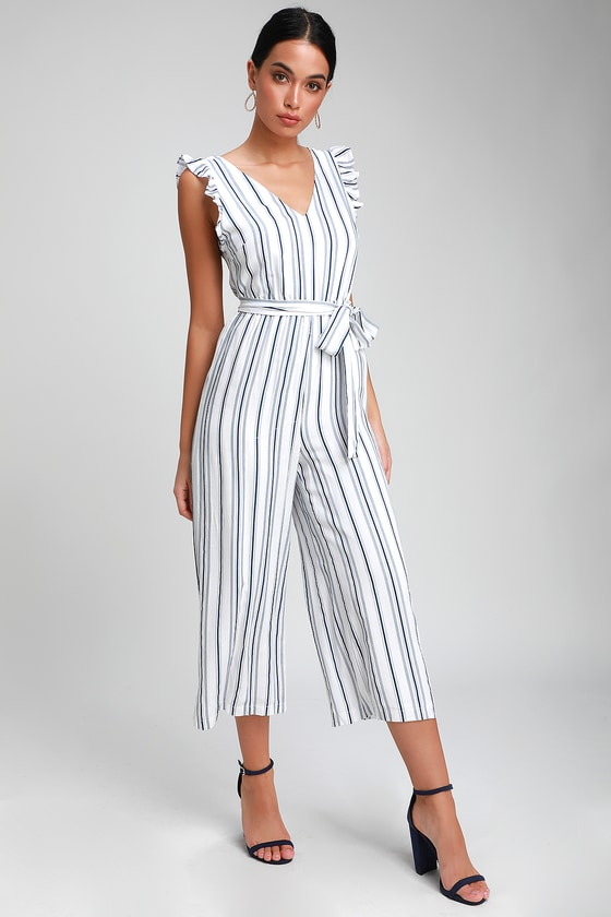 fb6c2e48be6 Cute Striped Jumpsuit - Blue and White Jumpsuit - Cute Jumpsuit