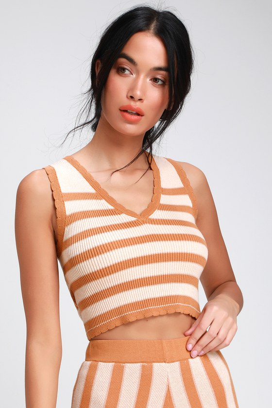 5b3292dd2663d Cute Crop Top - Sleeveless Sweater Top - Cropped Sweater Top