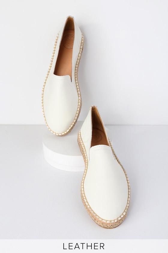 21f2f55747ba Morkas Magdalena - Coconut White Leather Espadrilles - Flats