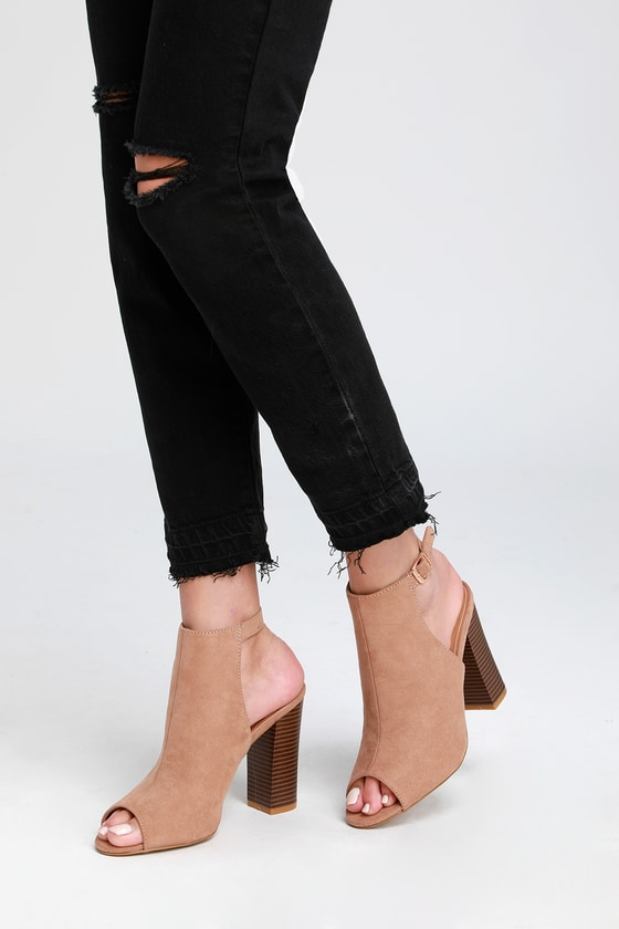 peep toe booties size 5