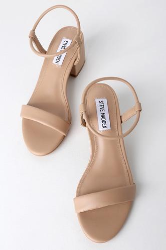 7342ff378f7c Steve Madden Ida Natural Ankle Strap Heels