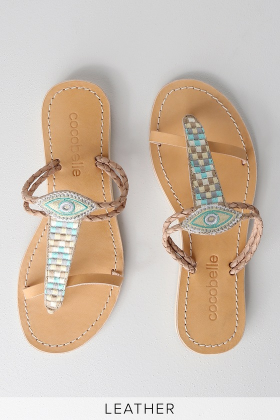 391810f91915 Cocobelle Cali Nazar Sandals - Flat Sandals - Multi Color Sandals