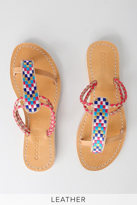 5919abf26 Cocobelle Cali Arrow Sandals - Flat Sandals - Multi Color Sandals