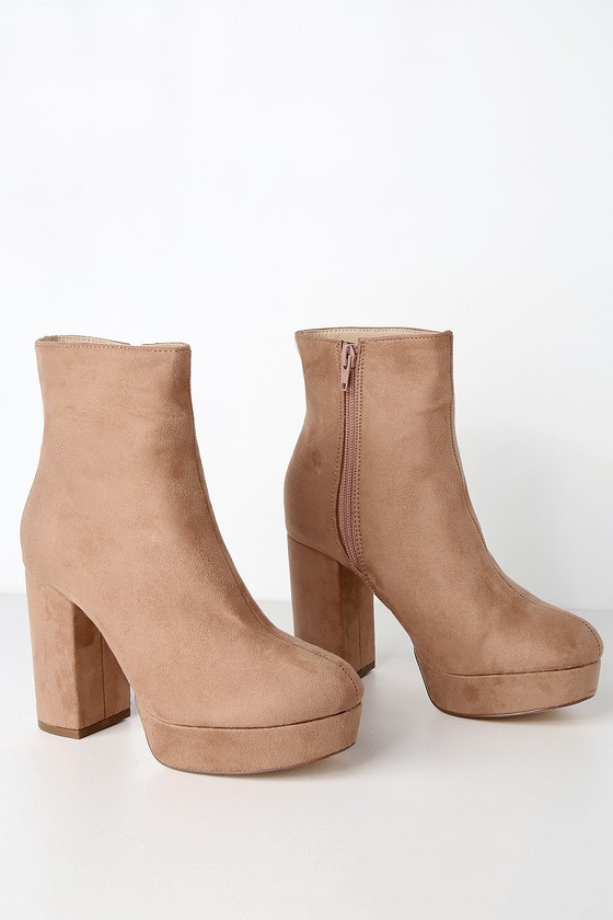 Platform Booties - High Heel Booties