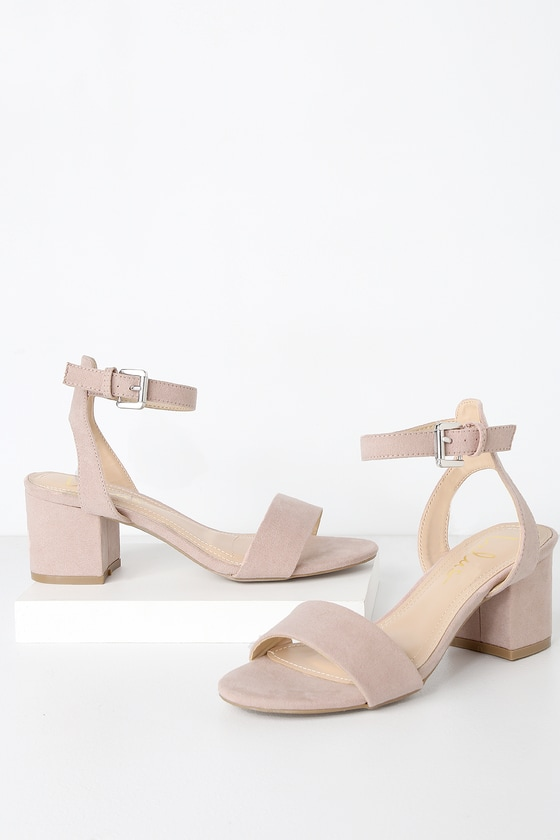 Nude Low Heel Shoes