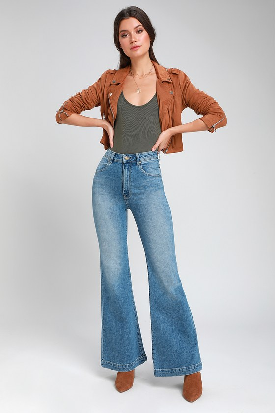 a9b726574 Rolla's Eastcoast Flare - Light Blue Flare Pants - Flare Jeans