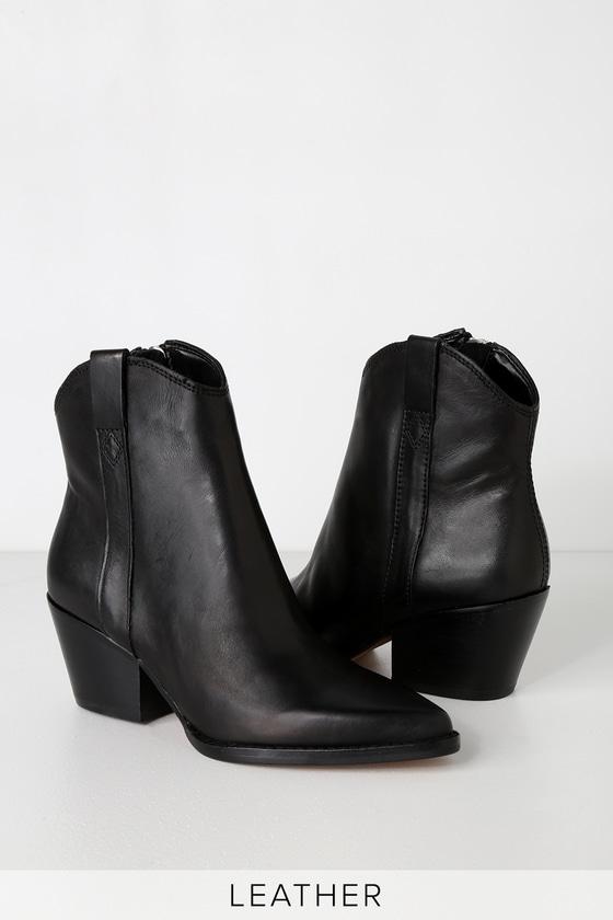 Dolce Vita Serra - Black Leather Ankle