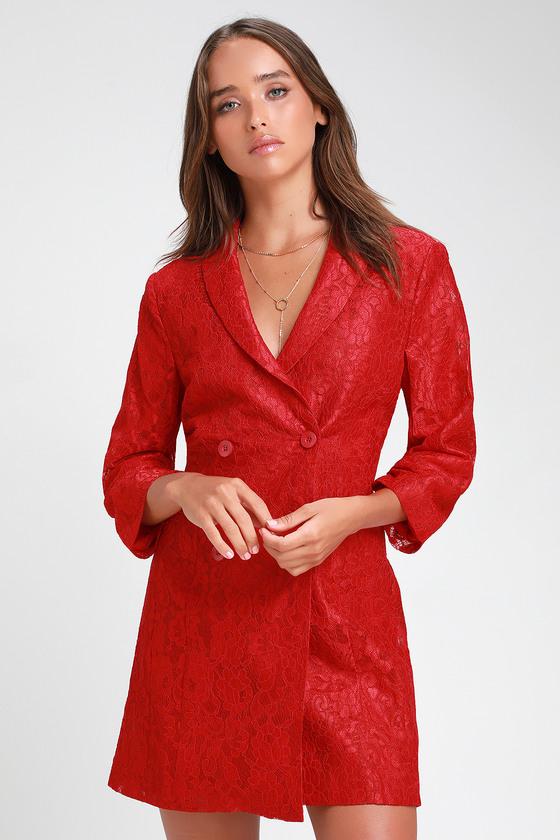 Red Elegant Long Sleeves Dresse Seuence