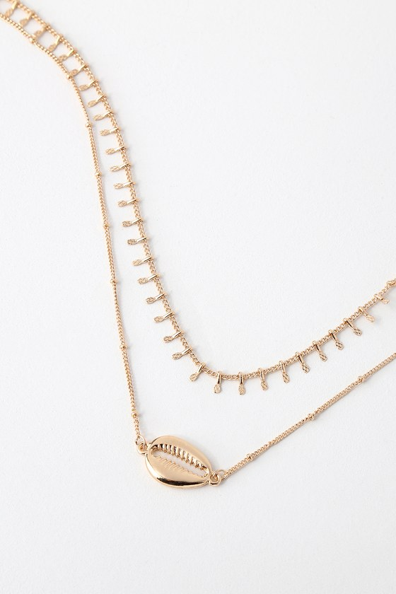 940826774192c Kailani Gold Cowrie Shell Necklace