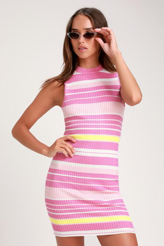 83cc9fc794 Pink Striped Dress – Fashion dresses