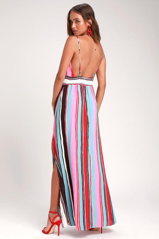 f7f1ffa7159 Cute Maxi Dress - Striped Maxi Dress - Sleeveless Maxi Dress