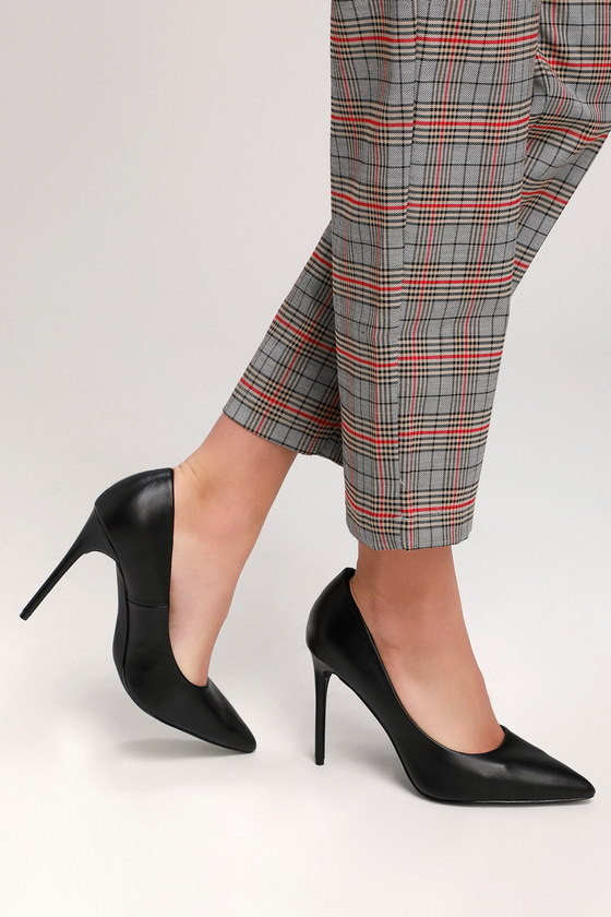 Cute Black Pumps - Black Heels - Vegan