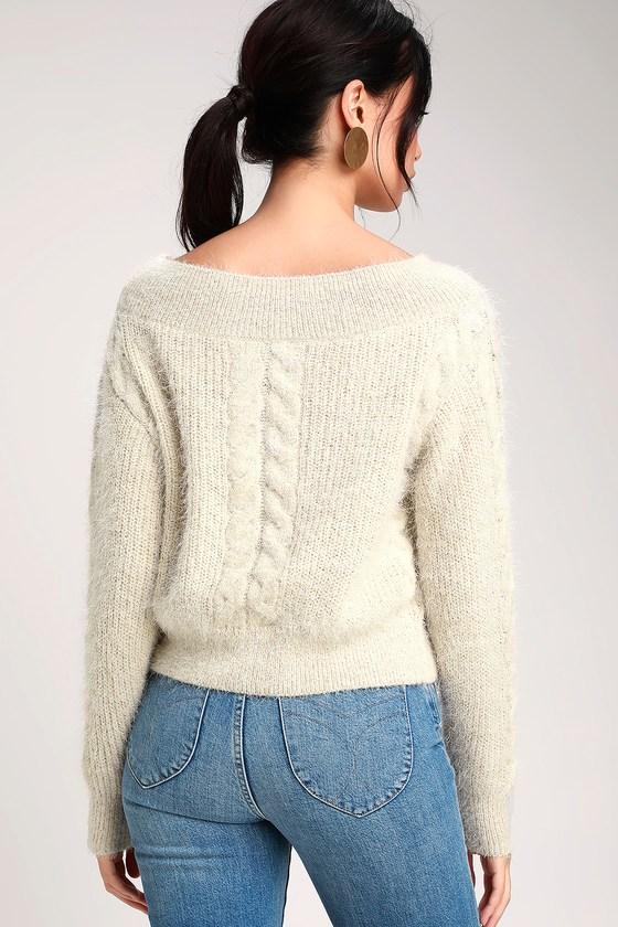 Amuse Society Miraflores - Eyelash Knit Sweater - OTS Sweater 80aed0a67