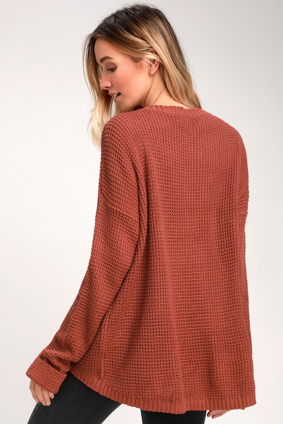 Cute Marsala Sweater - Oversized Sweater - Relaxed Sweater 0eb81e599