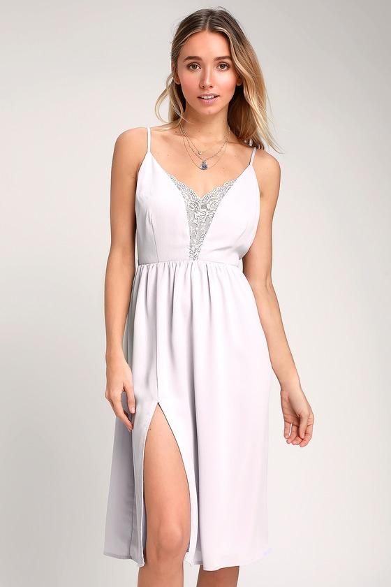 5c58dc780590 Lulus - Lavender Backless Midi Dress - Backless Lace Midi Dress