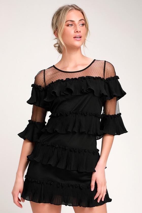 04ad48957359 Cute Dress - Ruffled Dress - Tired Dress - Little Black Dress