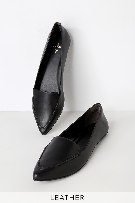 6730e63c248 Cute Leather Loafers - Black Loafers - Black Leather Loafers