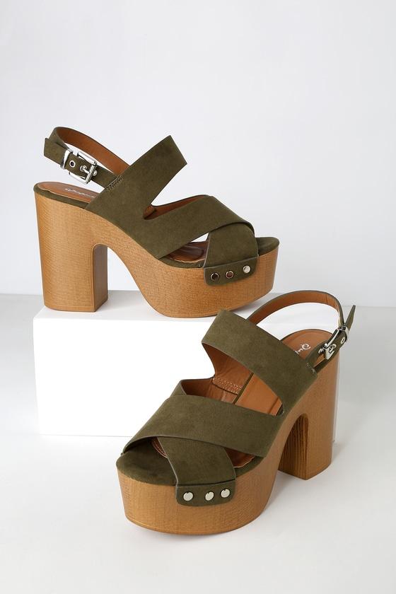 de7514d4613 Retro Sandals - Platforms Sandals - Vegan High Heel Sandals
