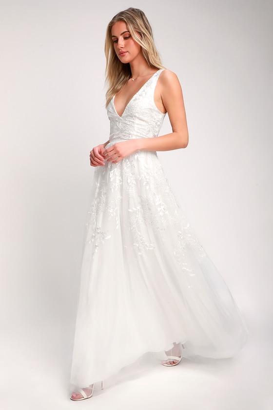Long White Wedding Dresses