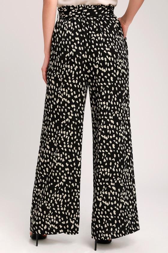 a56551a7fcfb Trendy Black Leopard Print Pants - Leopard Print Wide-Leg Pants