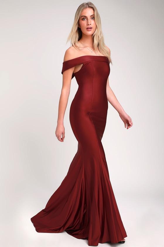 e075a87400c0 Sexy Burgundy Dress - OTS Burgundy Dress - Burgundy Maxi Dress