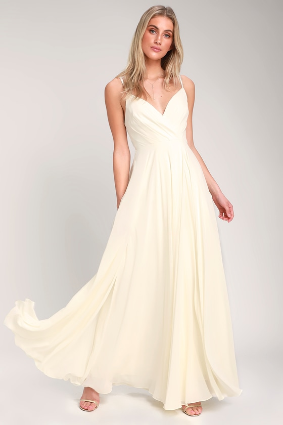 ALL ABOUT LOVE CREAM MAXI DRESS