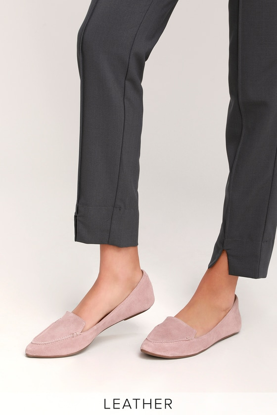 8e7da72d6eed Cute Leather Loafers - Mauve Loafers - Suede Loafers