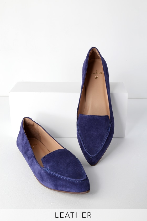 fe345b460c33 Cute Leather Loafers - Navy Loafers - Suede Loafers
