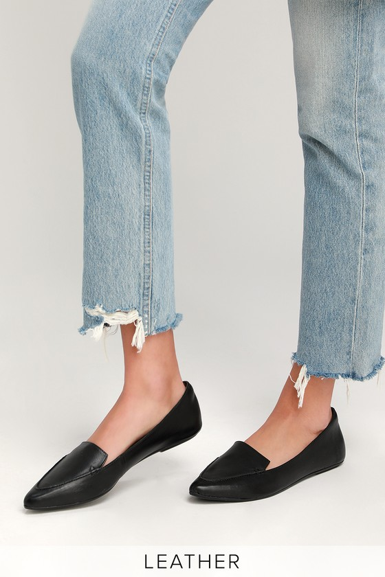 d29ac5000840 Cute Leather Loafers - Black Loafers - Black Leather Loafers