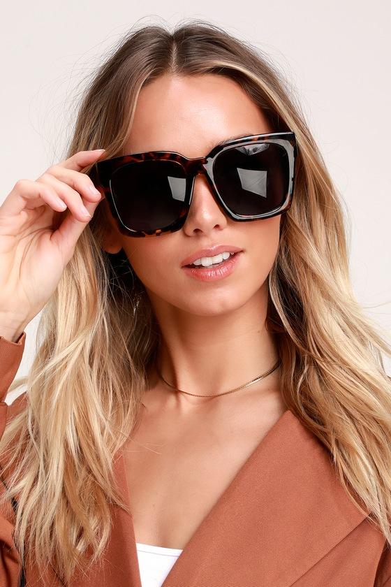 Chic Tortoise Sunglasses - Oversized Sunglasses - Cute Sunnies 77f0191c9