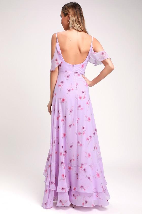 e9d572a5a47 Lovely Lilac Dress - Floral Print Dress - Purple Maxi Dress