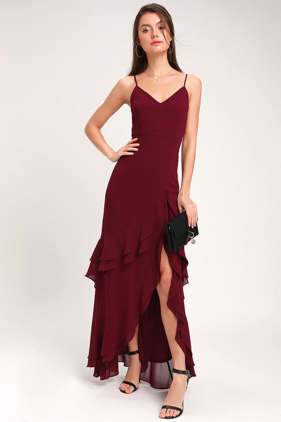 Cheap Burgundy Dress