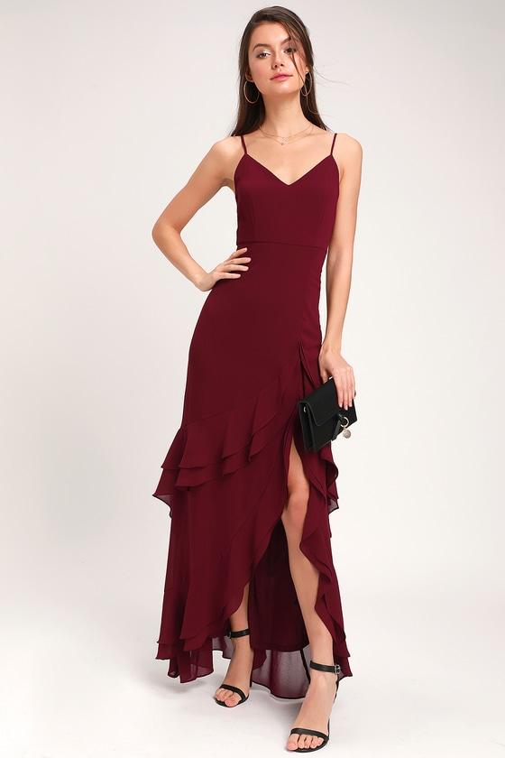 Cheap Burgundy Dress
