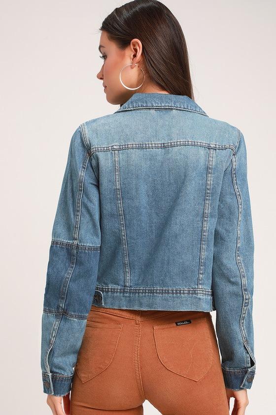af441c881138 Free People Rumors - Medium Wash Jacket - Denim Jacket