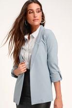 12d8726bdeb Classic Light Blue Blazer - Lightweight Blazer - Striped Blazer