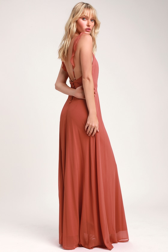 f7f28292f57 Rusty Rose Maxi Dress - Sleeveless Dress - Bridesmaid Dress