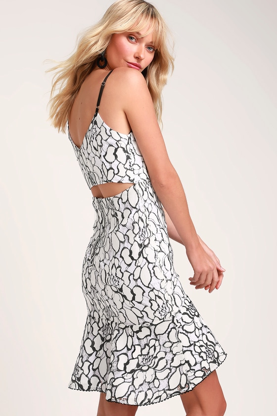 RYSE the Label Addison - Black and White Dress - Cutout Dress 5528dcae8