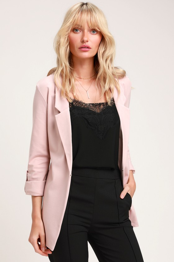 Love You More Blush Pink Blazer | Lulus