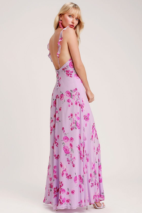 Print Maxi Dress Bridesmaid