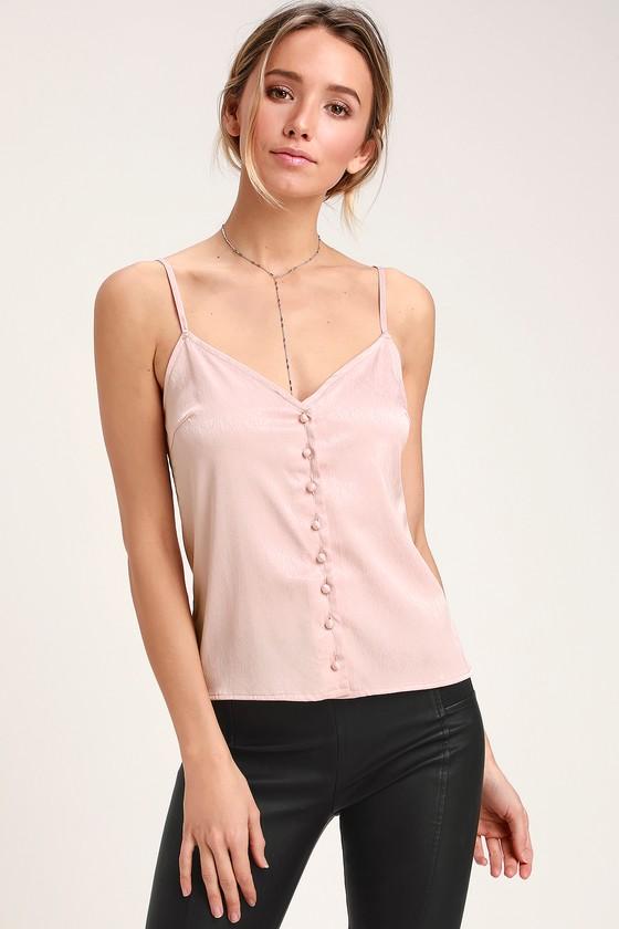 99e0cffec2 Chic Satin Cami Top - Blush Pink Cami Top - Cami Top - Pink Top