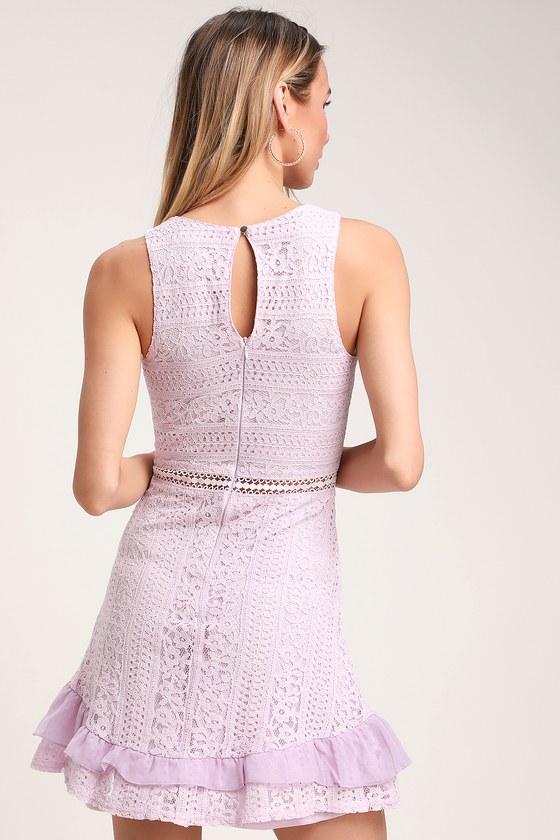 8ede8c0262f78 Cute Lace Dress - Lavender Dress - Ruffle Dress - Skater Dress