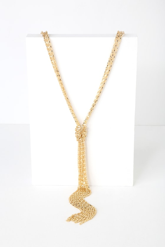 Crusoe Gold Knotted Layered Necklace - Lulus